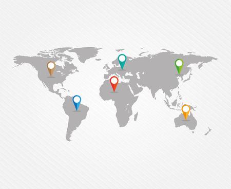 Mapa světa Ilustrace