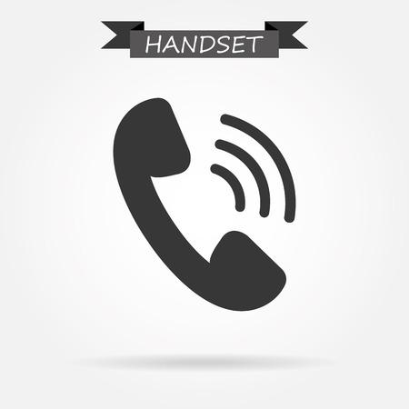 phone handset: Icona del telefono portatile