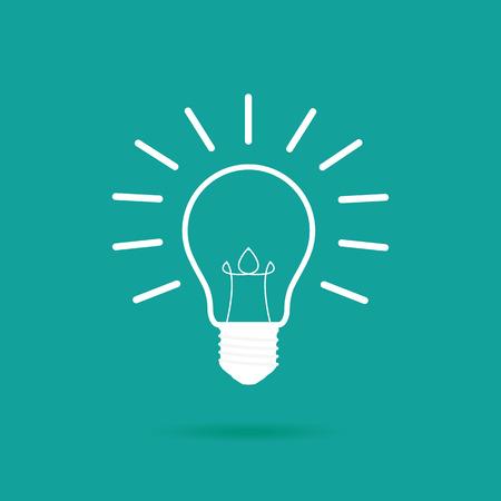 fluorescent lights: Light bulb icon