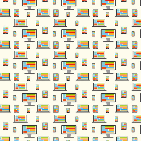 electronic devices: Electronic devices pattern. Vector