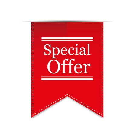 stitched: Banner Special Offer. Vector Illustration