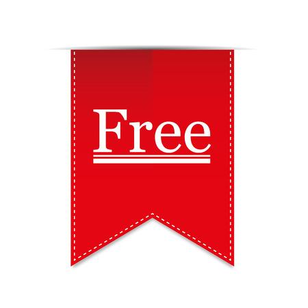 Banner Articolo gratuito. Vettore