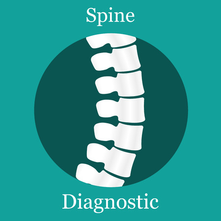 spine pain: Spine Diagnostic. Vector Illustration