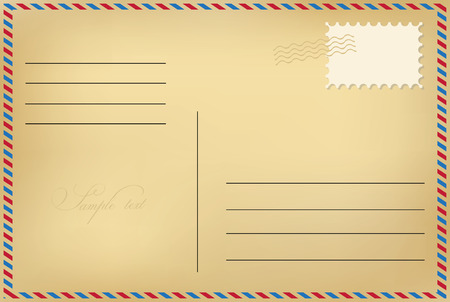 airmail stamp: Postcard