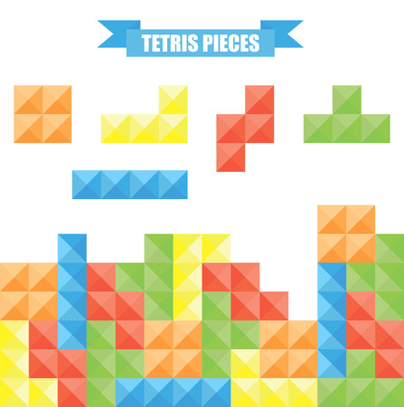tetris: Tetris pieces. Illustration