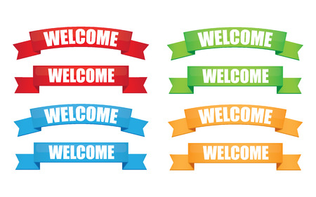 locution: Welcome ribbon
