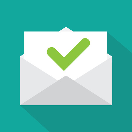 confirm: Envelope icon Illustration