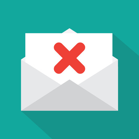 poorly: Envelope icon Illustration