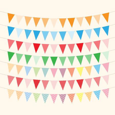 깃발 천과 생일 카드를위한 화환