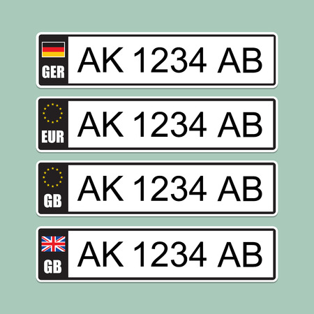 number plate: European license number plate