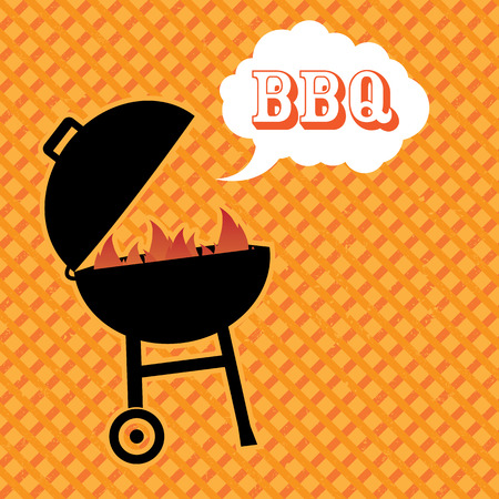 bbq: Barbecue background Illustration