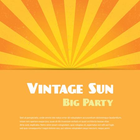sun ray: Vintage sun