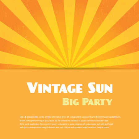 sun: Vintage sun