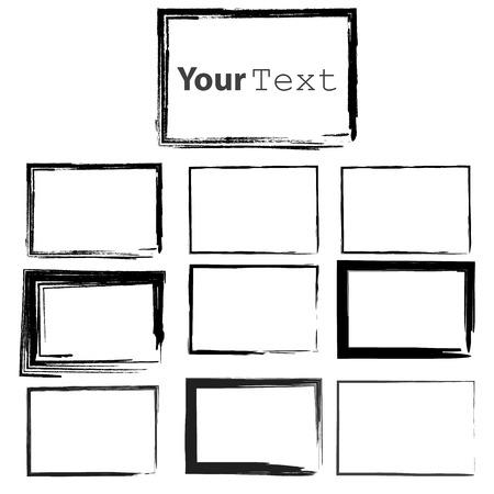 Set of Grunge Black  Frames