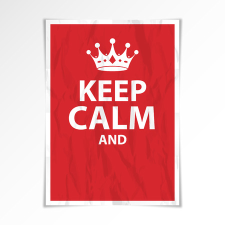 Keep calm poster Illustration