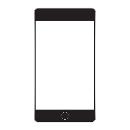 Black Business Phone Vector