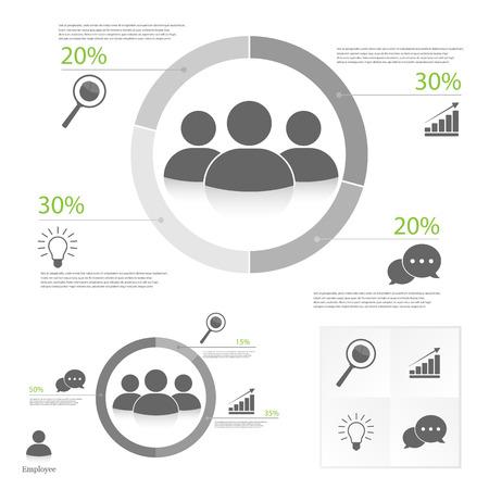 Teamwork infographic Illustration