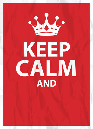 Keep calm poster Çizim