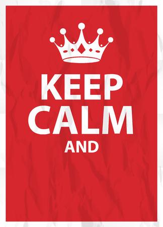 Keep calm poster Vettoriali