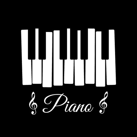 piano key: Piano Illustration