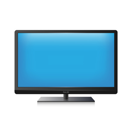 computer vector: Vector TV screen Illustration