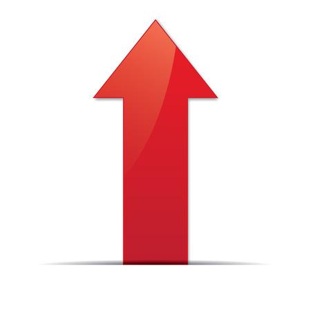 Red arrow. Vector Vettoriali