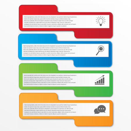 inforgraphic: Business infographics tabs template for presentation