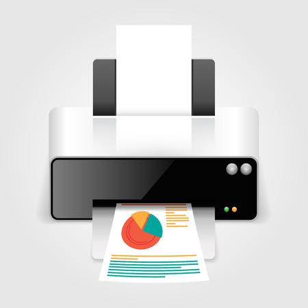 printer icon: Realistic printer.