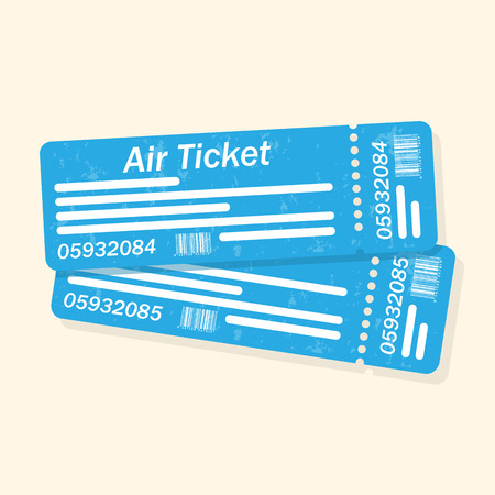 boarding card: plane tickets Illustration