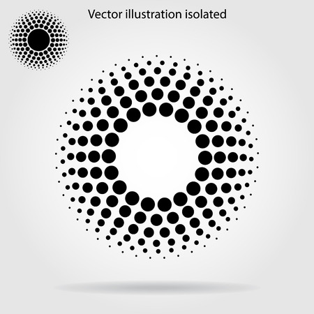 paint drips: Halftone dots circle