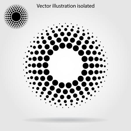Halftone dots circle