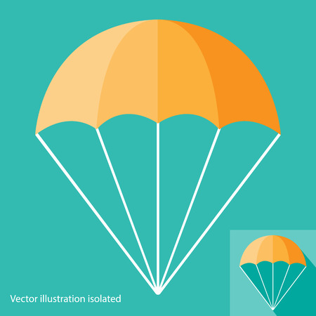 air sport: Parachute Icon Illustration