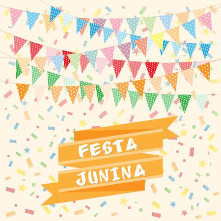 june: Brazil june party Illustration