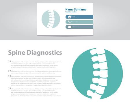 medicine logo: Spine Diagnostic. Vector Illustration