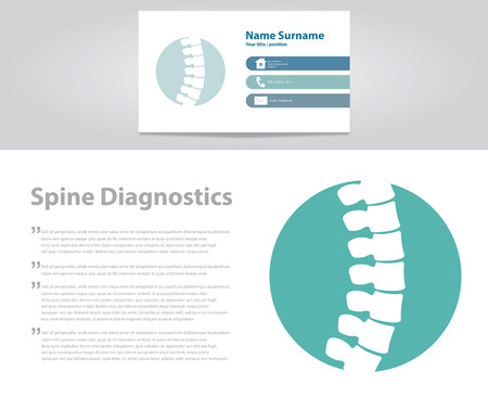 Spine Diagnostic. Vector Illustration