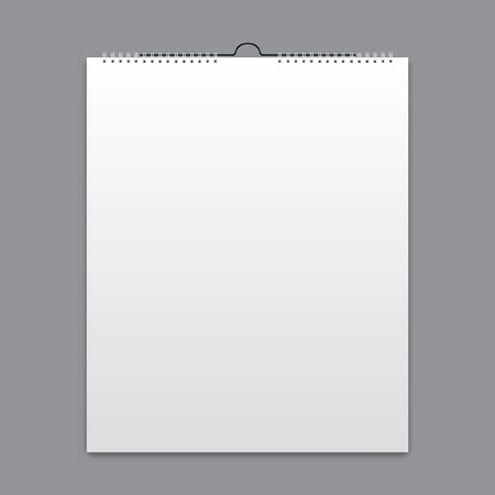 blank pages: Blank calendar, card design