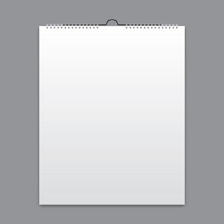 hoja en blanco: Calendario en blanco, diseño de la tarjeta Vectores