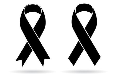 ruban noir: Deuil et le soutien de m�lanome symbole