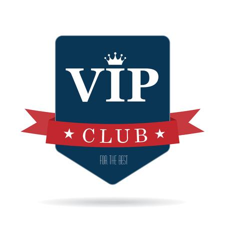 Vip club sign Illustration