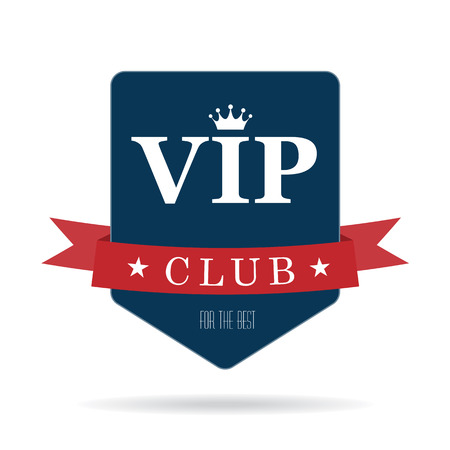 Vip club sign Vectores