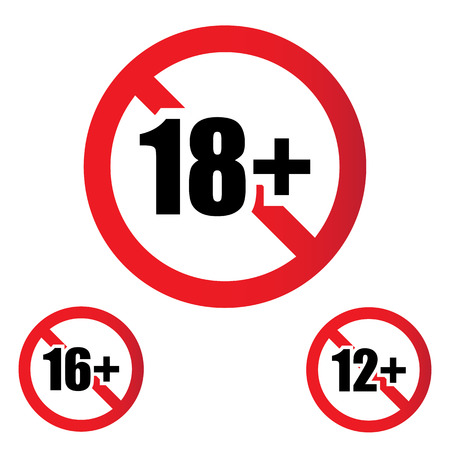 restriction: 18 age restriction sign