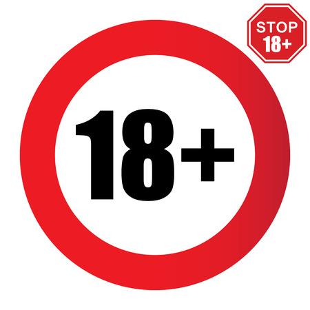 18 leeftijdsbeperking teken