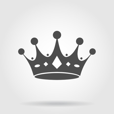 royal background: crown icon Illustration