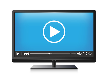 video player: Vector TV screen and Video player