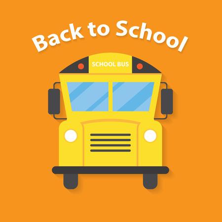 transporte escolar: Volver a la escuela de dise�o de estilo plano