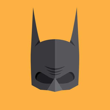 super power: Superhero flat style icon