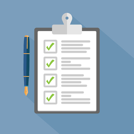 survey: Clipboard with checklist
