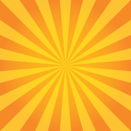 orange background: Sun Sunburst Pattern. Retro Background Illustration