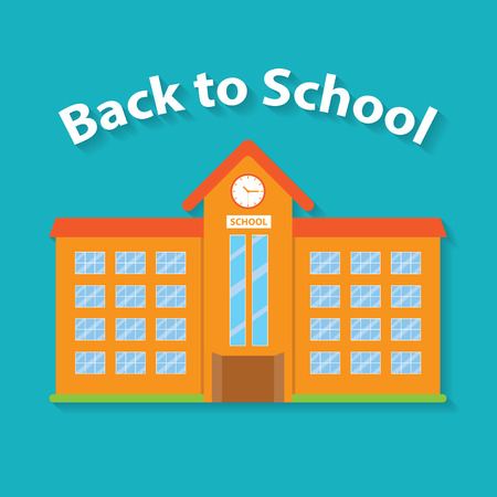 steeple: Back to School flat style design. Illustration