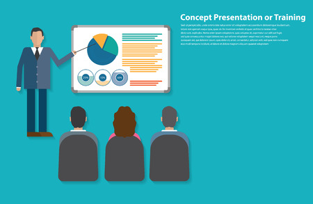 workshop seminar: Presentation or training flat style design Illustration